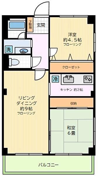 東京都世田谷区若林5丁目の賃貸マンションの間取り
