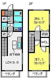 [テラスハウス] 神奈川県横浜市神奈川区三枚町 の賃貸【/】の間取り
