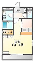 愛知県豊橋市牛川町字西郷の賃貸アパートの間取り