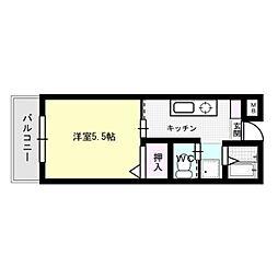 TS一号館[2階]の間取り
