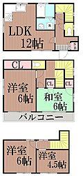 [一戸建] 東京都大田区中央7丁目 の賃貸【/】の間取り