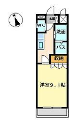 愛知県愛知郡東郷町大字春木字半ノ木の賃貸アパートの間取り