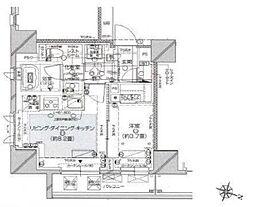 都営大江戸線 麻布十番駅 徒歩7分の賃貸マンション 6階1LDKの間取り