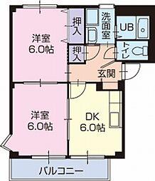 愛知県碧南市栄町3丁目の賃貸アパートの間取り