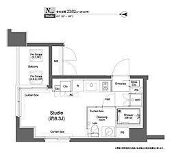 プラウドフラット横浜[7階]の間取り