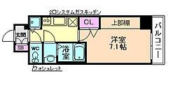 W−STYLE大阪駅前[2階]の間取り