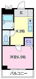 メゾン松原[2階]の間取り