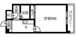 ハイムオアシス[4階]の間取り