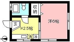 ハイツ村田[2階]の間取り