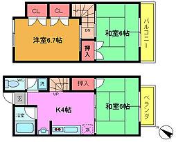 [テラスハウス] 千葉県市川市宮久保3丁目 の賃貸【/】の間取り