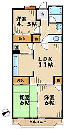 東京都八王子市別所1丁目の賃貸マンションの間取り