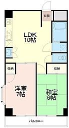 アールマンション[4階]の間取り