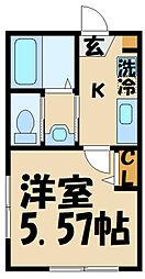 Casa Moma 1階1Kの間取り