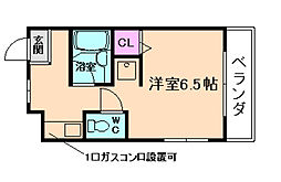 山仁シロヤマベルグII[3階]の間取り
