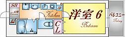 兵庫県神戸市須磨区車字下大道の賃貸マンションの間取り