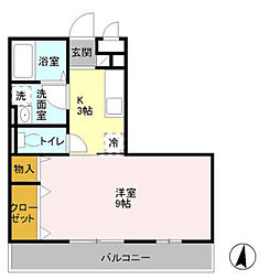 The Ritz TAKANO[2階]の間取り