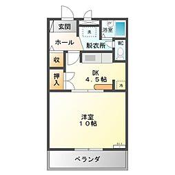 愛知県豊橋市西松山町の賃貸マンションの間取り