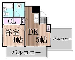 東京都大田区池上4丁目の賃貸マンションの間取り