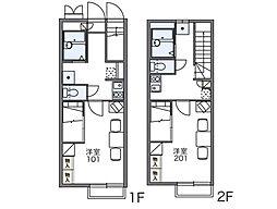レオパレスマロンハイツ[2階]の間取り