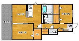 小郡新築アパート B棟[101号室]の間取り