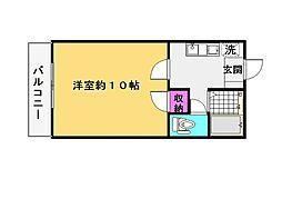 MYハイツ南片江[203号室]の間取り