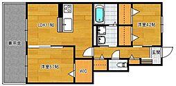 小郡新築アパート B棟[102号室]の間取り