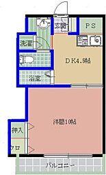 福岡県福岡市東区御島崎2丁目の賃貸マンションの間取り