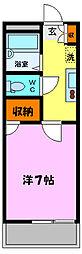 プチパレK[2階]の間取り