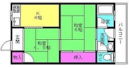 聖寿荘[101号室]の間取り