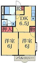 千葉県千葉市中央区蘇我5丁目の賃貸アパートの間取り