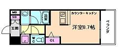 アドバンス西梅田II[6階]の間取り