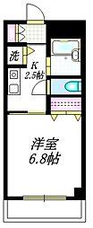 小田急小田原線 豪徳寺駅 徒歩1分の賃貸マンション 3階1Kの間取り