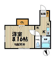 Kamakura ST[202号室]の間取り
