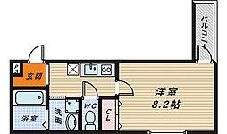 フォーリーブス33 B棟[2階]の間取り