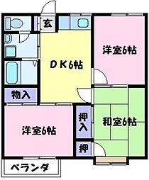 ロイヤルハイツ福田A[1階]の間取り