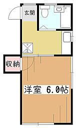 ハウスキャロット[2階]の間取り