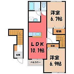 ルミナスハイム B棟[2階]の間取り