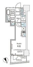 パークナードフィット南青山Vista 10階ワンルームの間取り