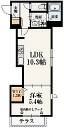 (仮称)中野6丁目メゾン 1階1LDKの間取り