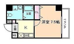 ラフォーレ松ヶ枝I[3階]の間取り