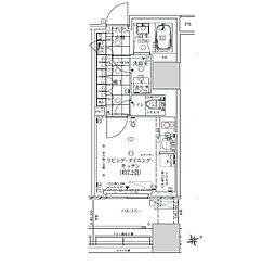 JR山手線 浜松町駅 徒歩10分の賃貸マンション 3階ワンルームの間取り