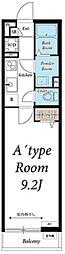 JR常磐線 柏駅 徒歩9分の賃貸マンション 1階1Kの間取り