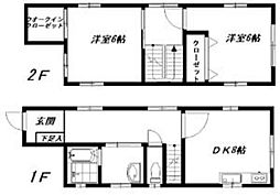 [一戸建] 福岡県福岡市東区馬出5丁目 の賃貸【/】の間取り
