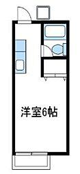 神奈川県厚木市松枝1丁目の賃貸アパートの間取り