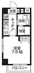 レオーネ板橋本町 3階1Kの間取り