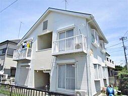東京都日野市落川の賃貸アパートの外観