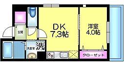 J.maison ジェイメゾン 2階1DKの間取り