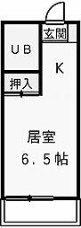 神奈川県川崎市多摩区菅城下の賃貸マンションの間取り
