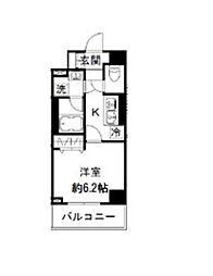 ナパージュ竹ノ塚駅前 5階1Kの間取り