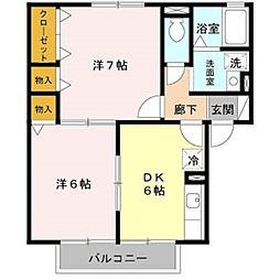 ガーデンハウス明正 A棟[1階]の間取り